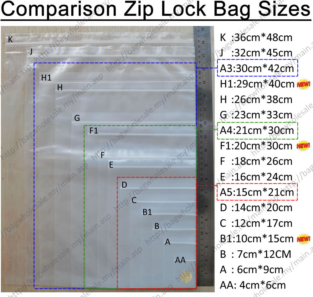 Image Result For Zip Lock Bags Sizes
