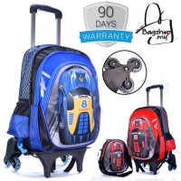 3D Racing Car 6 Wheels Trolley Backpack MC114  RA2