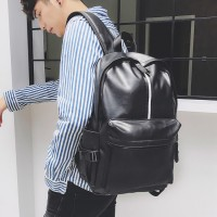 B301 - Trending Leather Backpack / Angel White / Jet Black Leather Backpack RG6