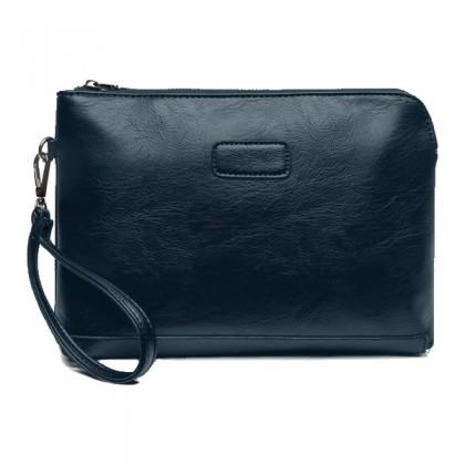 MC124- Man's Hand Carry Bag / Cool Black Leather Bag