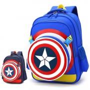 New Upgrade Version Cool Kids Backpack / Captain America Hero Backpack E3 MC351 (Free Gift)