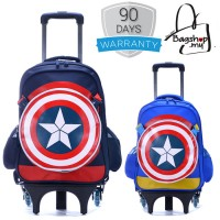 Captain America 6 Wheels Trolley Backpack MC128 RG5