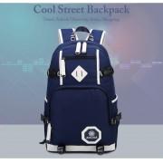 Unisex Heavy Duty Nylon Stylish Daily Backpack MC133 E2 (Free Gift)