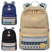 Girl Vintage Design Casual High School Daily Backpack MC135 (Free Gift)