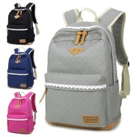 Girl Cute Laces Polka Dot Casual Daily Durable Backpack mc137 RG6(Promotion)