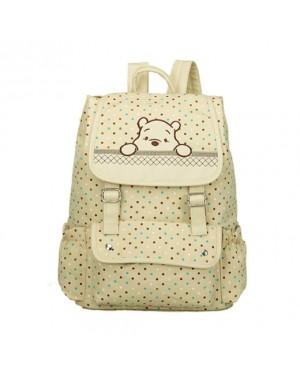 MC175 - Winnie The Pooh Cute Backpack / Polka Cute Canvas Bag