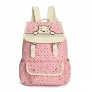 MC175 - Winnie The Pooh Cute Backpack / Polka Cute Canvas Bag