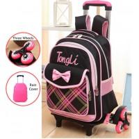 MC167 - Pinky Trolely Backpack / Cute Bracket Student Bag H1