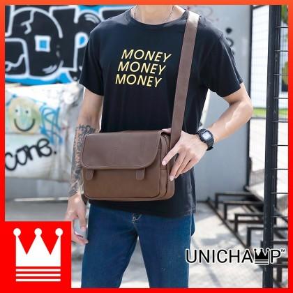 [Unichamp] MC215 Man Fashion Leather Messenger Crossbody Bag Sling Beg Lelaki MSB