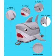 MC217 - Cute Shark Backpack / Quality Nylon Kids School Unique Shark Bag A3