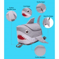 MC217 - Cute Shark Backpack / Quality Nylon Kids School Unique Shark Bag A3