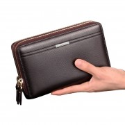 MC226 - Elegant Man's Hand Carry Wallet / Multi-purposes Large Quality Leather Wallet