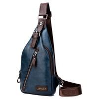 MC225 - Superior Leather Man's Chest Pouch Bag / Delicate Design Trending Fashion Chest Pouch
