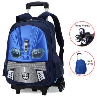 MC236 - Transformer Trolley Backpack / 6 Wheels Stair Climbing Student School Bag