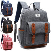 MC230 - Classic Tangling Belt Quality Nylon Fashion Backpack / Colleague School Bag RG5