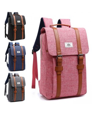 MC232 - Classic Long Strap Rectangular Box Backpack / Quality Fashion Colleague School Bag YT1