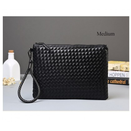 MC243 Braided Superior Leather Hand Carry Formal Bag / Envelope Korean Style Fashion Bag