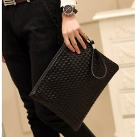 MC243 - Braided Superior Leather Hand Carry Formal Bag / Envelope Korean Style Fashion Bag