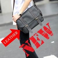 MC235 - Man's Formal Long Strap Style Korean Fashion Messenger Bag / Cool Crossbody Bag