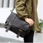 MC235 - Man's Formal Long Strap Style Korean Fashion Messenger Bag / Cool Crossbody Bag - A4 (Free Gift)