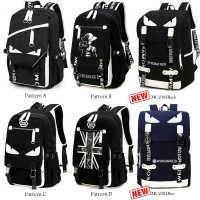 MC241 - Cool Signature Darkness Backpack / Convenient Large College School Bag RF4