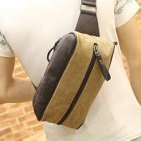 MC250 - Classic Pencil Box Rectangular Chest Pouch / Cool Fashion Quality Canvas Man's Bag