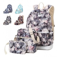 MC252 - Youth Beauty Blossom Floral Design Girls Cute 3 in 1 Backpack / Superior Quality HD Printing(Promotion) H4