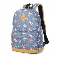 MC254 - Floral Blossom Flowers Backpack / College High School Student Awesome Bag