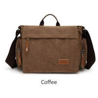 MC258 - Durable Classic Canvas Mail Man Design Fashion Messenger Bag / Office Formal Bag DK1