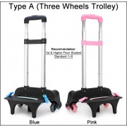 MC276 - Tall Trolley Kids School Bag Trolley / 6 Wheels Trolley Student Backpack Attachable LD3