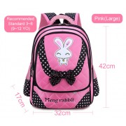 MC270 - Light Weight Cute Rabbit Primary School Backpack / Comfortable Student Bag