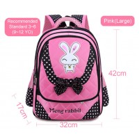 MC270 - Light Weight Cute Rabbit Primary School Backpack / Comfortable Student Bag RB2
