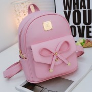 mc280 - Cute Rabbit Ribbon Casual Small Backpack / Lady's Adorable Casual Fashion Bag