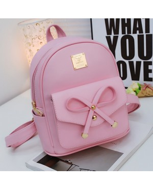 mc280 - Cute Rabbit Ribbon Casual Small Backpack / Lady's Adorable Casual Fashion Bag