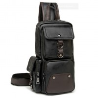 MC282 - New Era Design Coolest Man's Chest Pouch / Long Shape Quality Leather Man's Sling Bag RD6