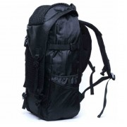 mc286 - Charcoal Black Cool Adventure Large Backpack / Hiking Camping Branded Bansusu Quality Travel Bag E4 (Free Gift)