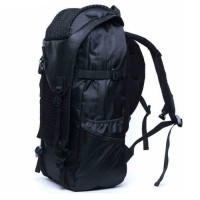 mc286 - Charcoal Black Cool Adventure Large Backpack / Hiking Camping Branded Bansusu Quality Travel LC1