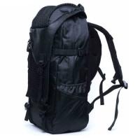 mc286 - Charcoal Black Cool Adventure Large Backpack / Hiking Camping Branded Bansusu Quality Travel Bag