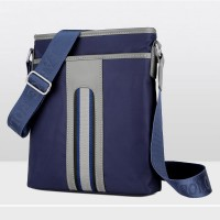mc285 - Man's Cool Strips Waterproof Large Capacity Sling Bag / Casual Phone Wallet Cross Body Pouch
