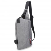 99002 - Oxford Nylon Soft Material Chest Pouch Bag / Swift Design Stylish Convenient Light Weight Ba