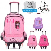 Cartoon Girl 6 Wheels Trolley Backpack MC291 YS1