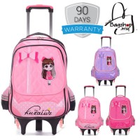 Cartoon Girl 6 Wheels Trolley Backpack MC291 RA2