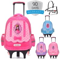 Cute Barbie 6 Wheels Trolley Backpack MC293 RA2