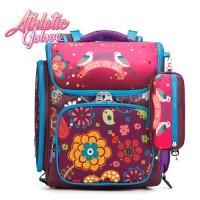 mc299 - Floral Blossom Deisgn Primary School Bag / Cute Girl Trolley 6 Wheels Bag - PK3