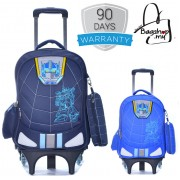 Cartoon Transformer 6 Wheels Trolley Backpack MC309
