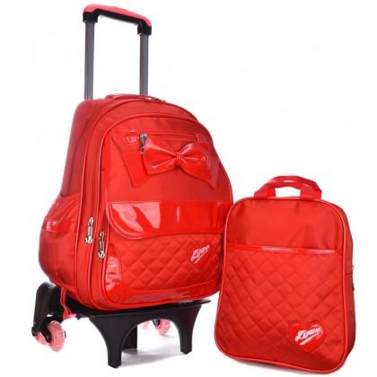 MC305 Big Ribbon 6 Wheels Trolley Backpack
