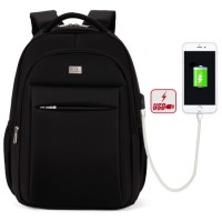 mc312 - Double Layer Shockproof USB Power Bank Charger Laptop Backpack / Professional City Elite Formal Office Bag