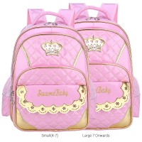 mc315 - Spine Protective Cushion Padded Primary School Backpack / Cute Princess Design Quality Bag YS6