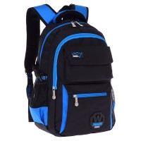 mc316 - Quality Durable Plain Black Design Primary School Bag / Classic Student Backpack CK2