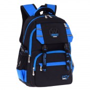mc317 - Cool Classic Plain Black Design Primary School Bag / Comfortable Large Student Backpack RB1